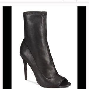 Aldo Peeptoe Heeled Boots Size 6.5 M